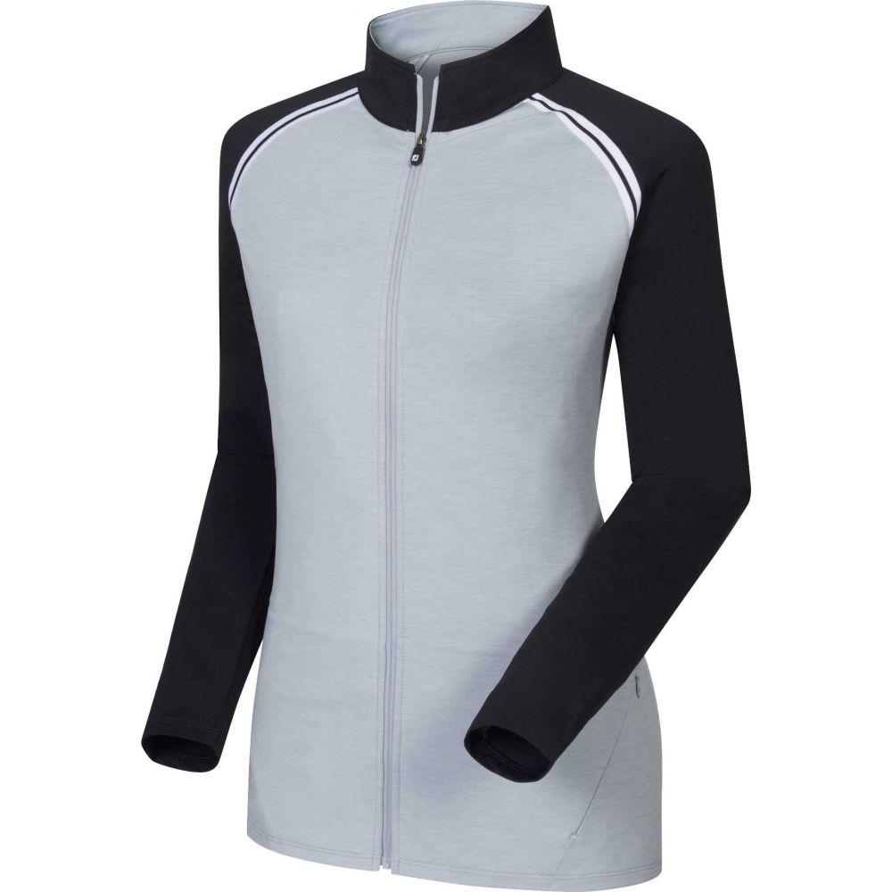 フットジョイ FootJoy レディース ゴルフ ジャケット アウター【French Terry Full-Zip Mid-Layer Golf Jacket】Grey/Black