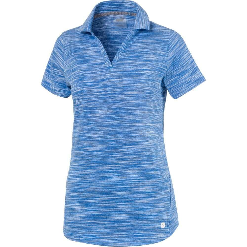 プーマ PUMA レディース ゴルフ 半袖 トップス【Heather Slub Short Sleeve Golf Polo】Palace Blue Heather