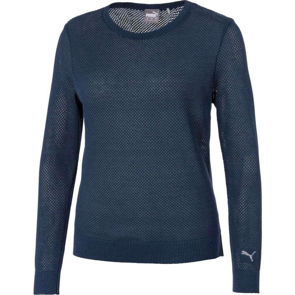 プーマ PUMA レディース ゴルフ ニット・セーター トップス【Long Sleeve Golf Sweater】Dark Denim Heather