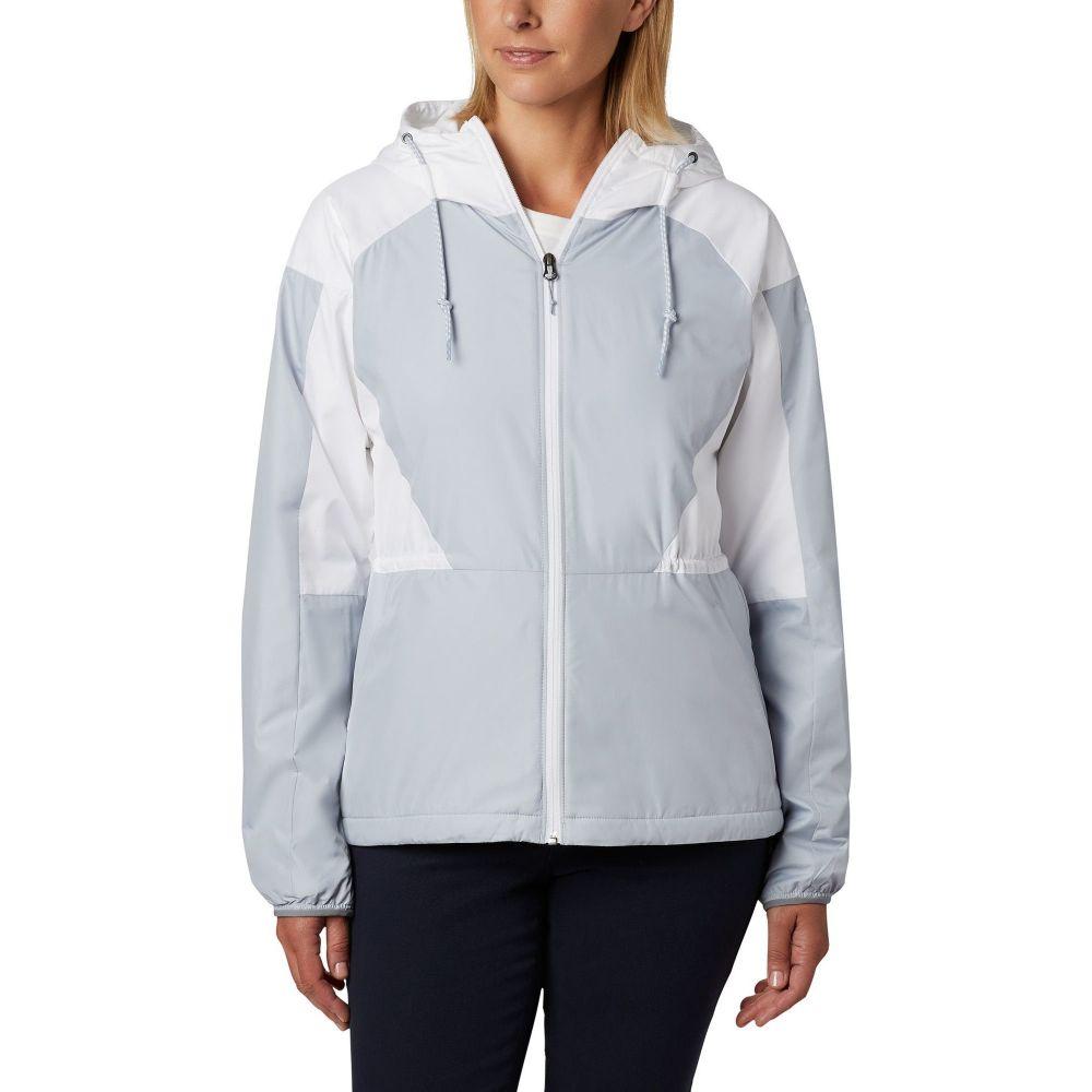 コロンビア Columbia レディース ジャケット ウィンドブレーカー アウター【Side Hill Windbreaker Jacket】Cirrus Grey/White