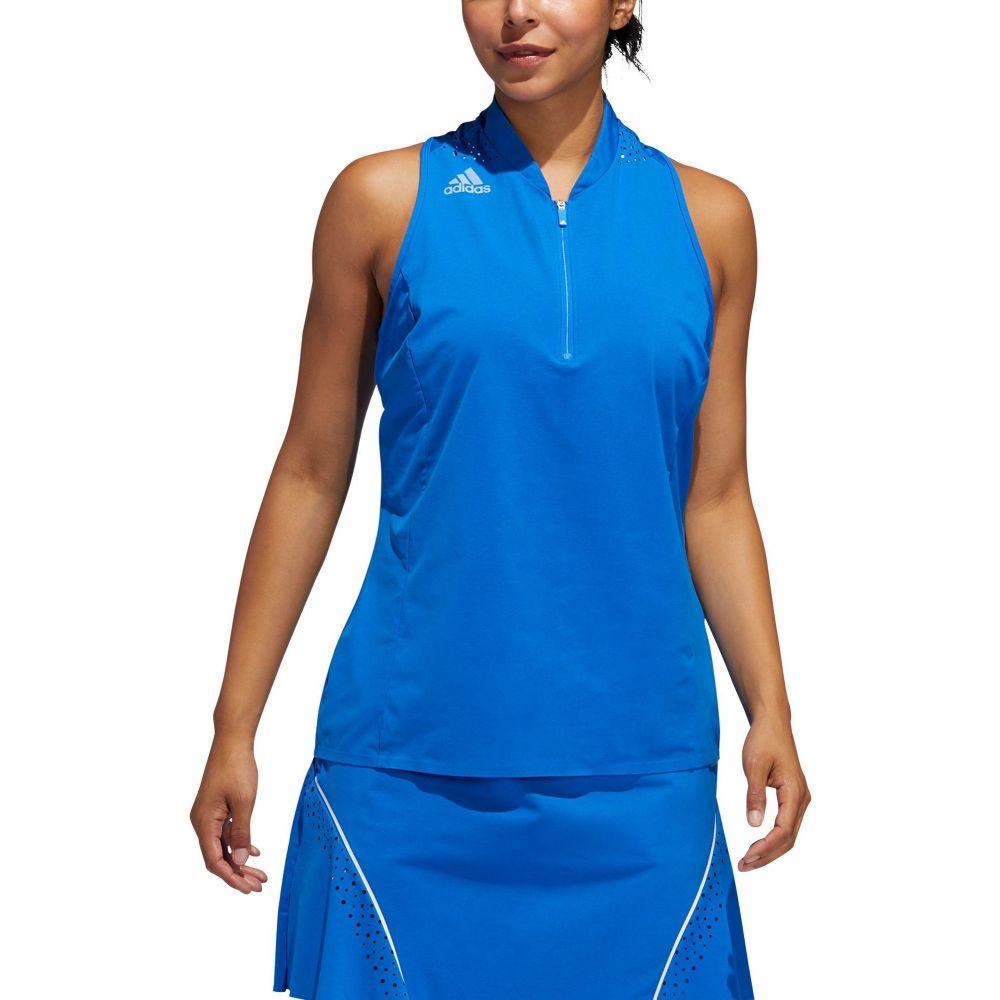 アディダス adidas レディース ゴルフ ノースリーブ ポロシャツ トップス【Racerback Sleeveless Golf Polo】Glory Blue