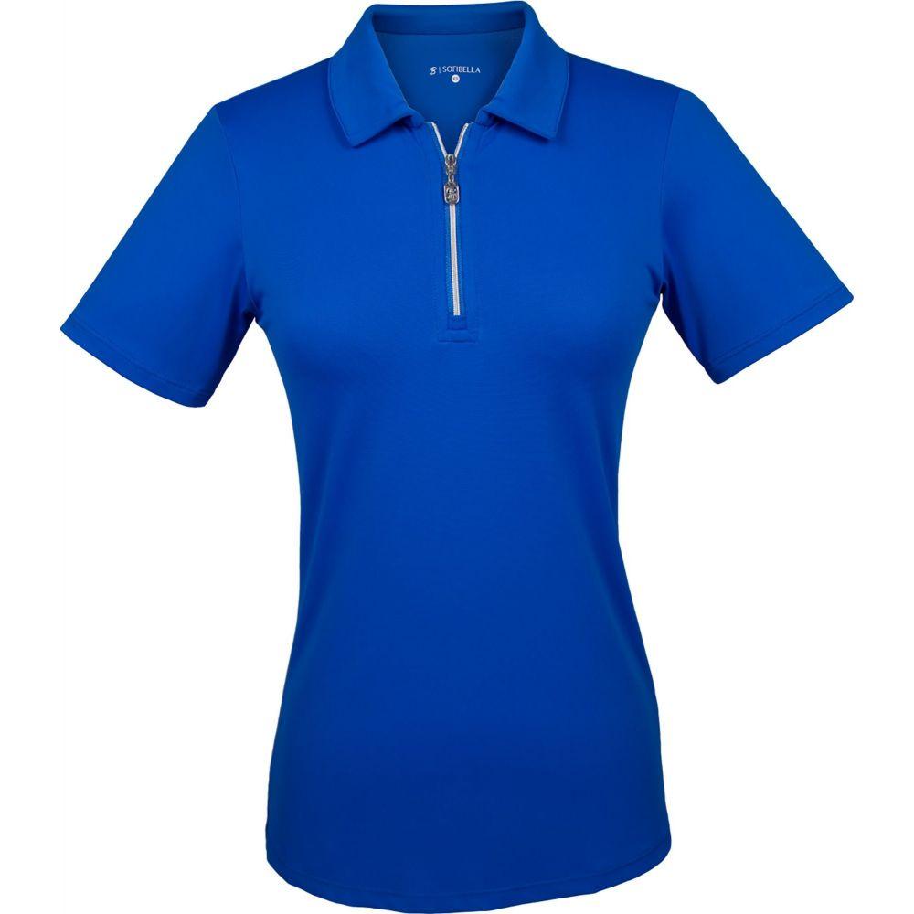 ソフィベラ Sofibella レディース ゴルフ 半袖 トップス【Short Sleeve Golf Polo】Ocean