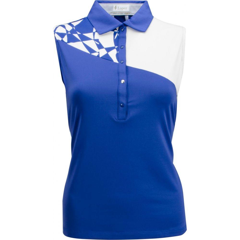 ナンシー ロペス Nancy Lopez Golf レディース ゴルフ ノースリーブ ポロシャツ トップス【Nancy Lopez Splice Sleeveless Golf Polo】Twilight/White