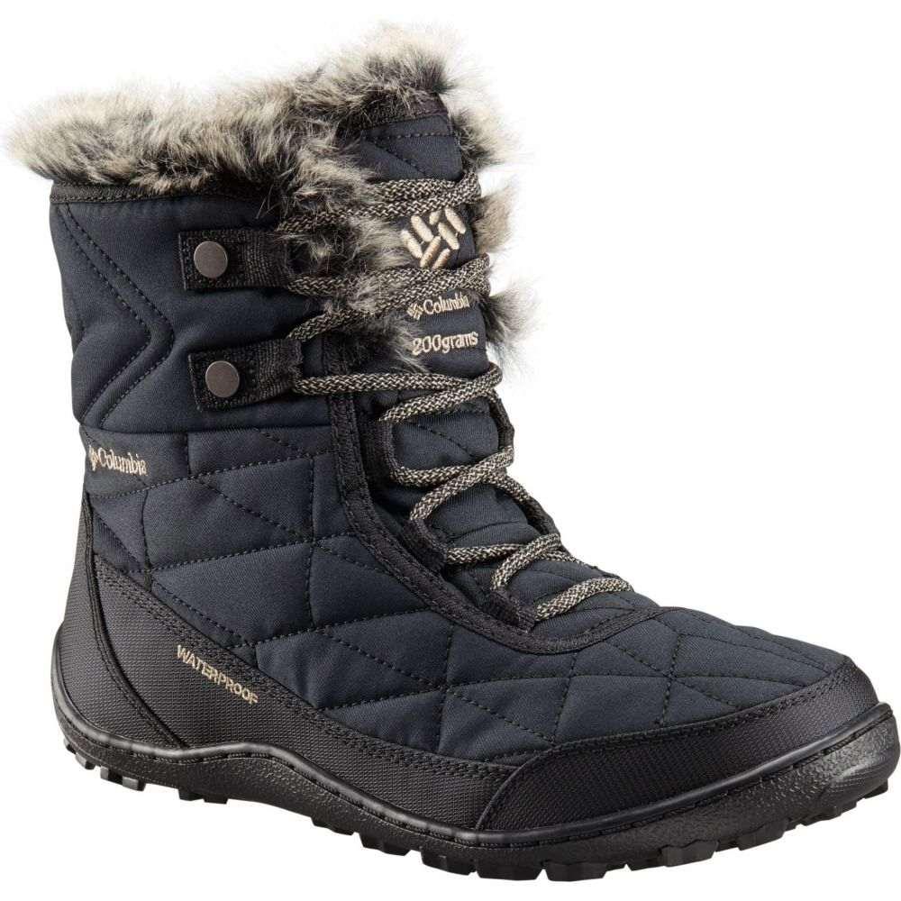 コロンビア Columbia レディース ブーツ ウインターブーツ シューズ・靴【Minx Shorty III Waterproof 200g Winter Boots】Black/Pebble