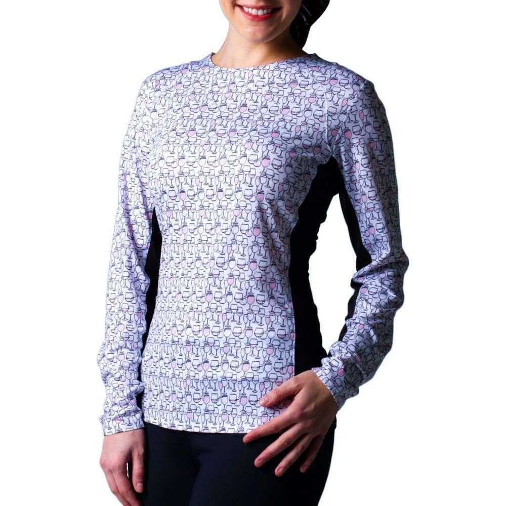 サン ソレイユ SanSoleil レディース ゴルフ トップス【SunGlow Print Golf Shirt】Rose
