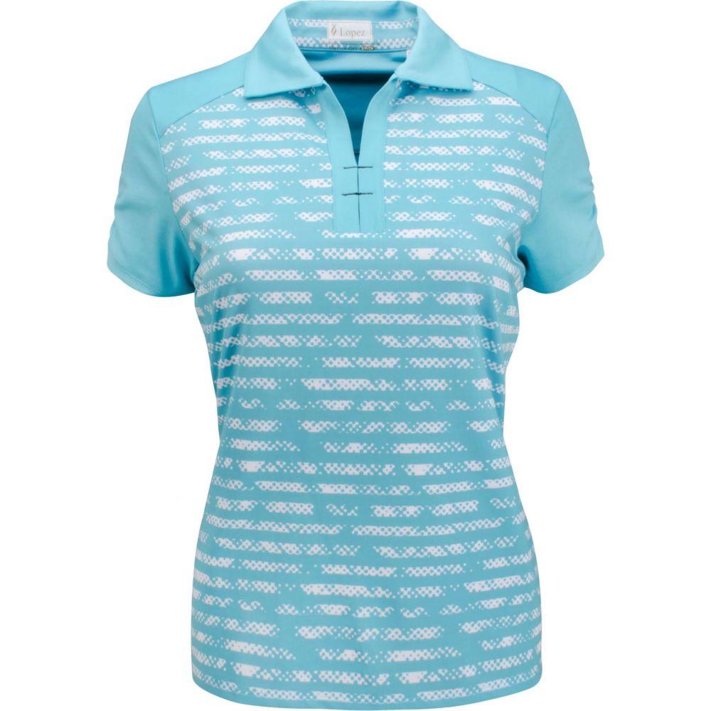 ナンシー ロペス Nancy Lopez Golf レディース ゴルフ ポロシャツ トップス【Nancy Lopez Race Golf Polo】Aquarius/White