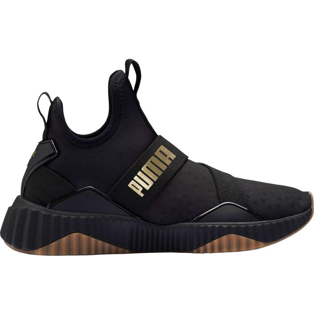 プーマ PUMA レディース スニーカー シューズ・靴【Defy Mid Core Shoes】Black/Metallic Gold