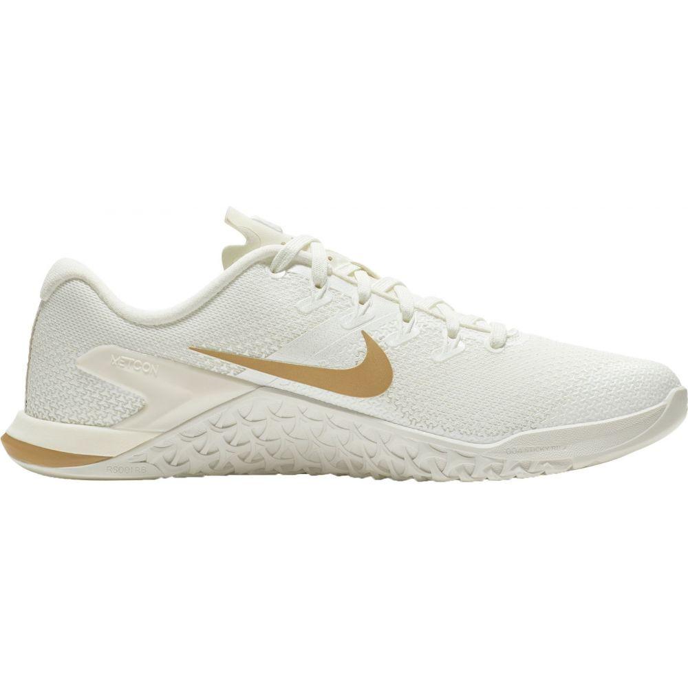 ナイキ Nike レディース フィットネス・トレーニング シューズ・靴【Metcon 4 Training Shoes】White/Gold