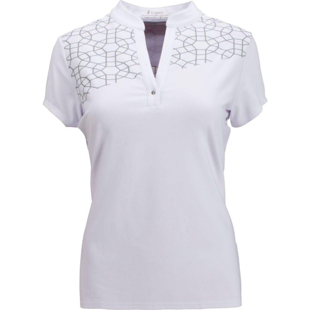 ナンシー ロペス Nancy Lopez Golf レディース ゴルフ ポロシャツ トップス【Nancy Lopez Legacy Golf Polo】White/Silver