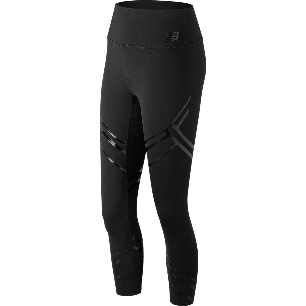 ニューバランス New Balance レディース スパッツ・レギンス インナー・下着【High Rise Printed Transform Crop Leggings】Black