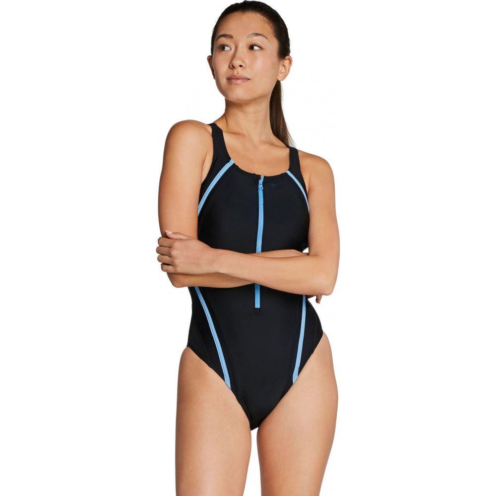 スピード Speedo レディース ワンピース 水着・ビーチウェア【Zip Quantum Splice One Piece Swimsuit】Robbia Blue