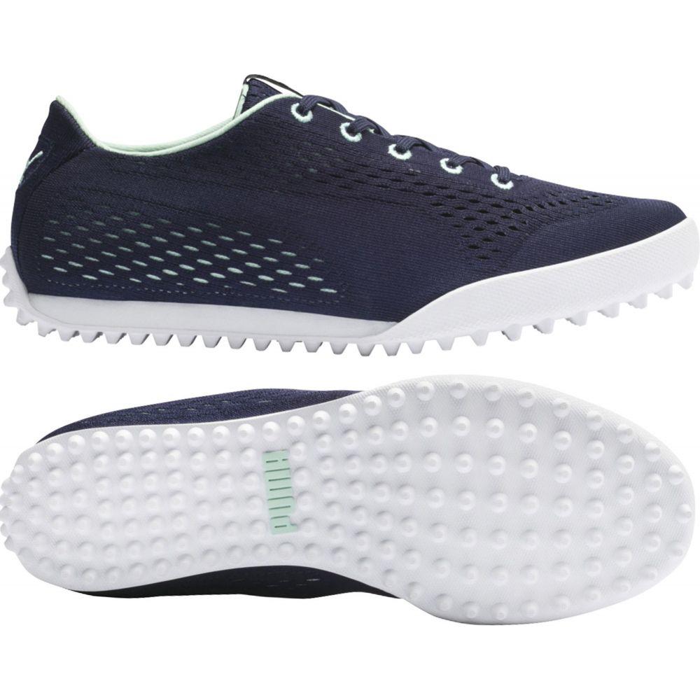 プーマ PUMA レディース ゴルフ シューズ・靴【Monolite Cat EM Golf Shoes】Peacoat/Green