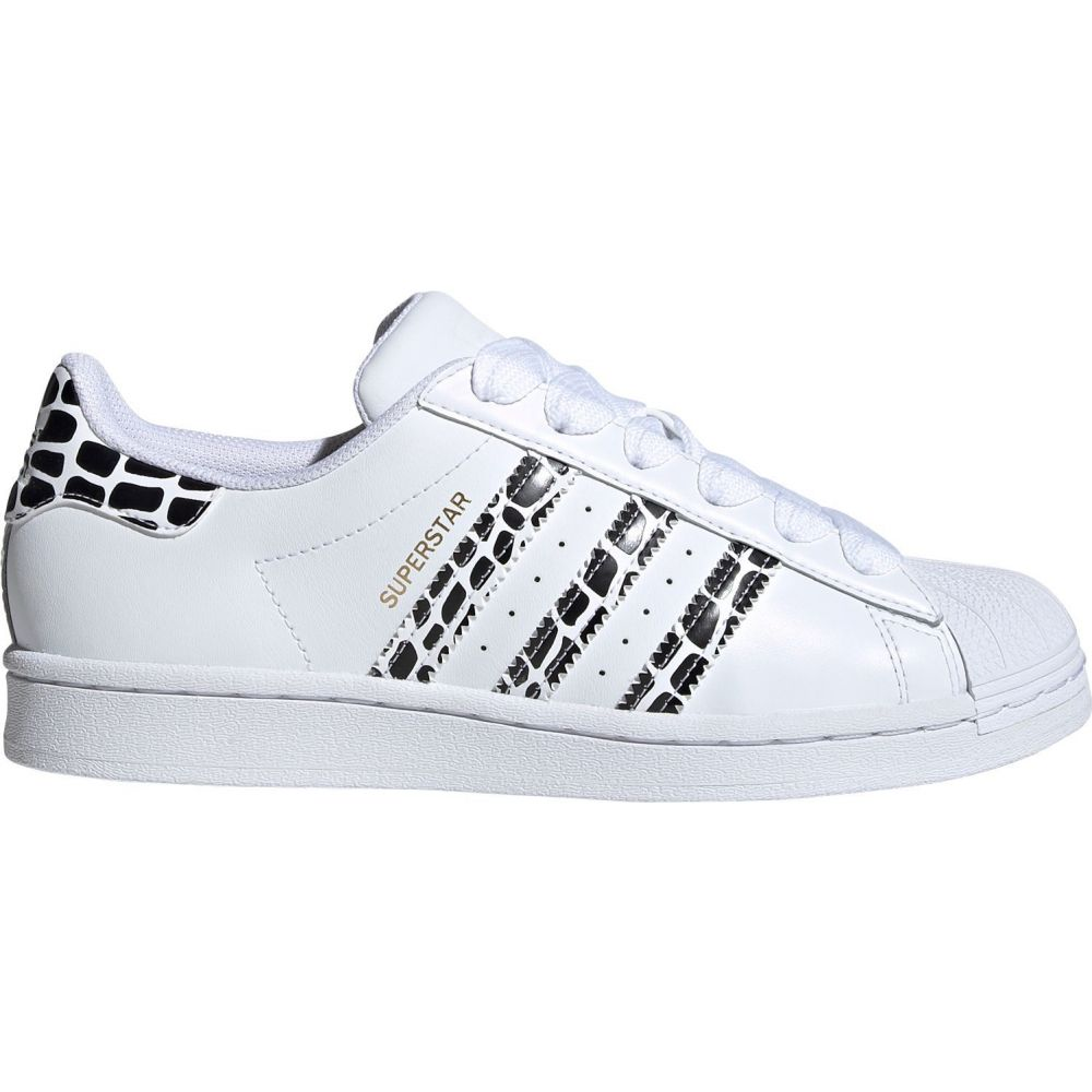 アディダス adidas レディース スニーカー シューズ・靴【Superstar Print Shoes】White/Gold/Black
