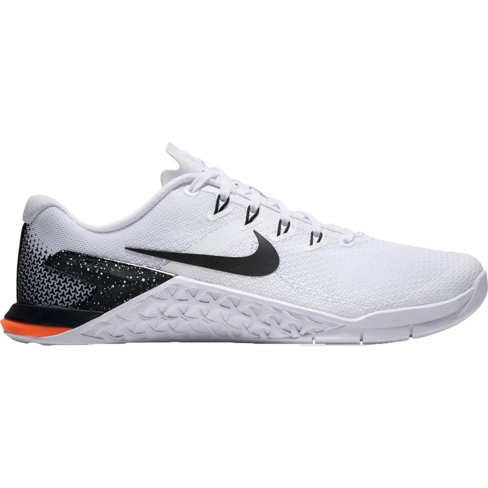 ナイキ Nike レディース フィットネス・トレーニング シューズ・靴【Metcon 4 Training Shoes】White/Black/Orange