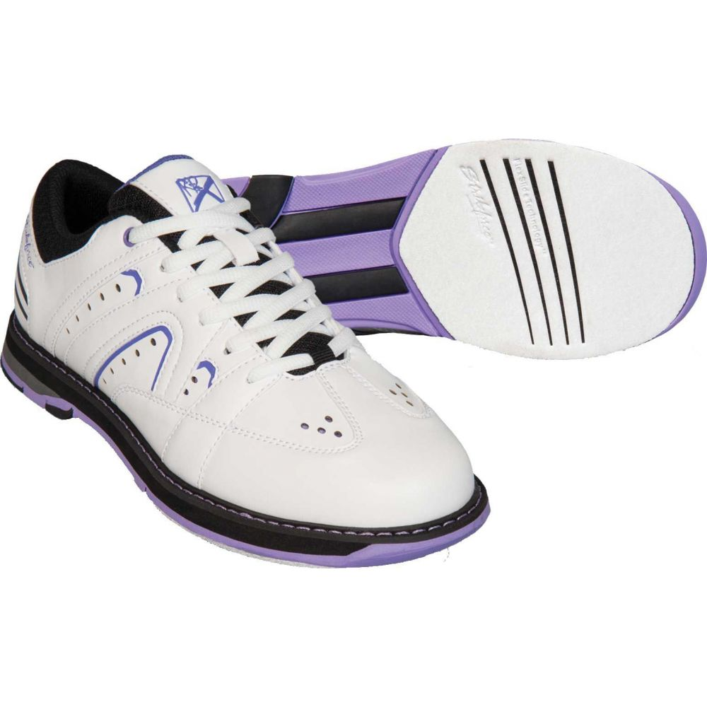 ストライクフォース Strikeforce レディース ボウリング シューズ・靴【Quest Bowling Shoes】White/Purple