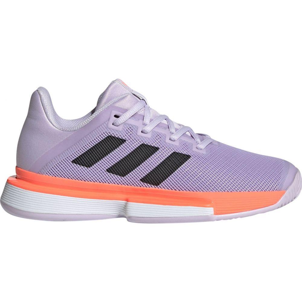 アディダス adidas レディース テニス シューズ・靴【SoleMatch Bounce Tennis Shoes】Black/Purple