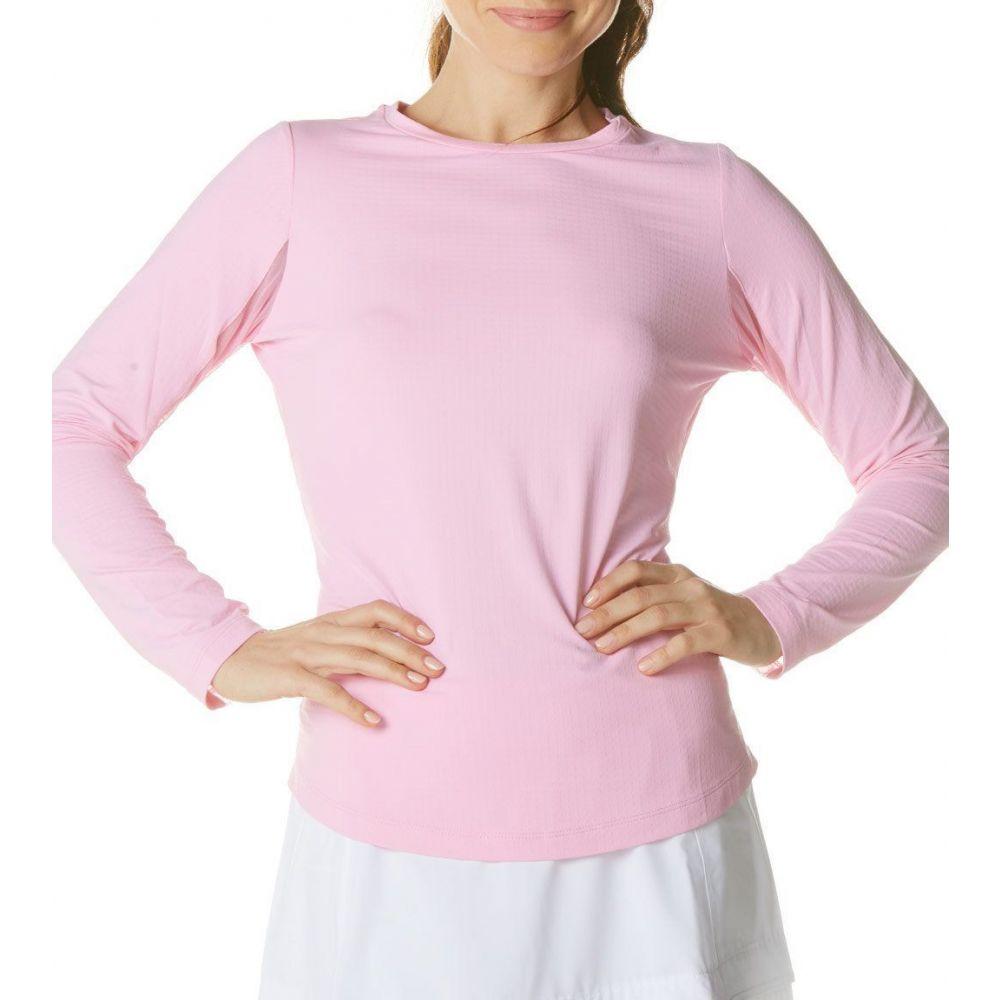 IBKUL レディース ゴルフ トップス【Crew Neck Golf Top】Candy Pink