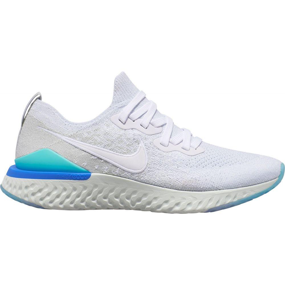 ナイキ Nike レディース ランニング・ウォーキング シューズ・靴【Epic React Flyknit 2 Running Shoes】White/Silver/Blue