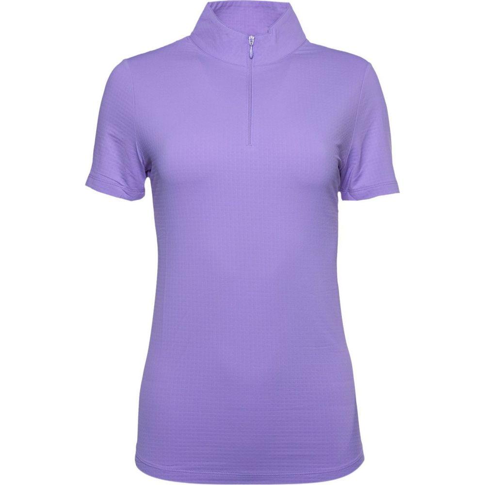 IBKUL レディース ゴルフ 半袖 トップス【Short Sleeve Mock Neck Golf Polo】Lavender