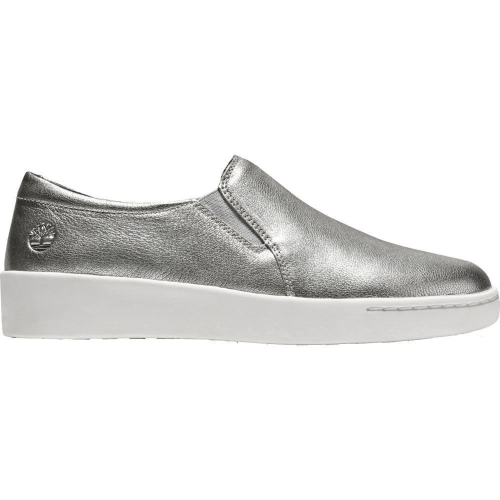 ティンバーランド Timberland レディース スリッポン・フラット シューズ・靴【Teya Gore Slip-On Casual Shoes】Silver