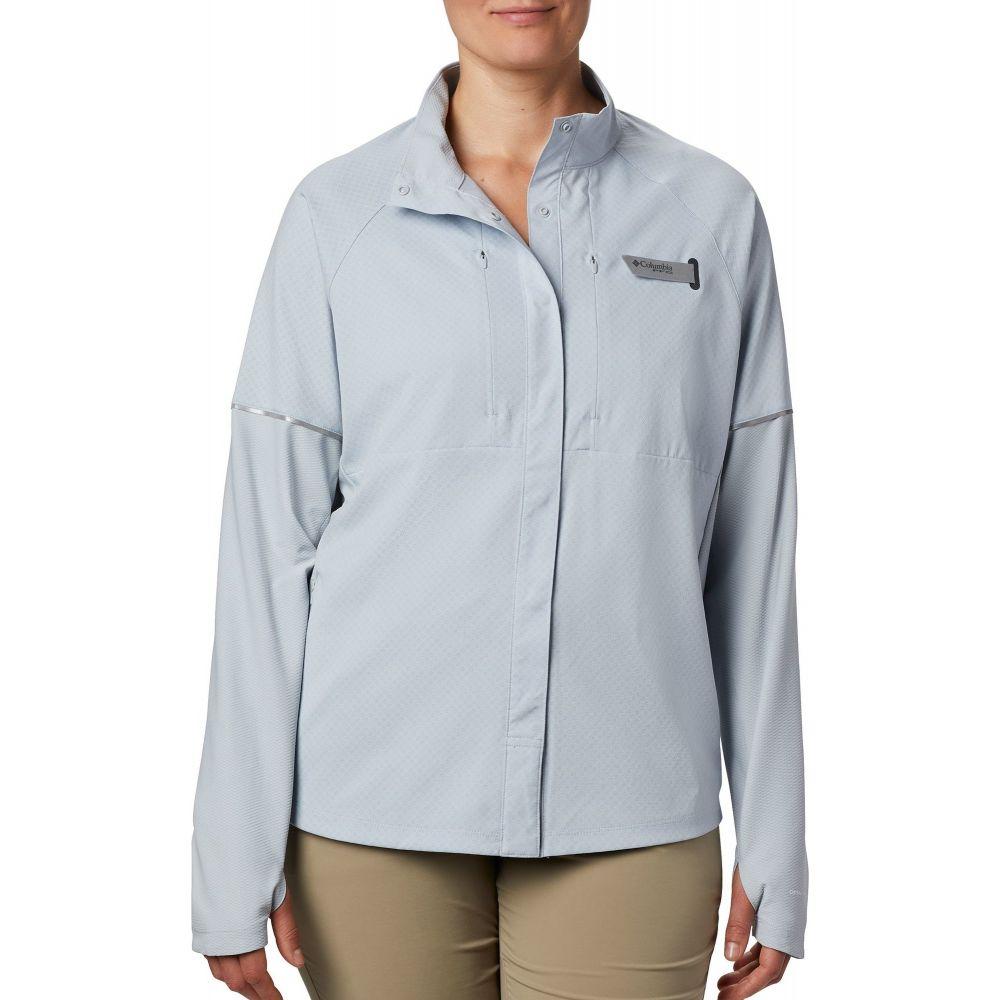 コロンビア Columbia レディース トップス 【PFG Ultimate Catch Zero Long Sleeve Hybrid Shirt】Cirrus Grey