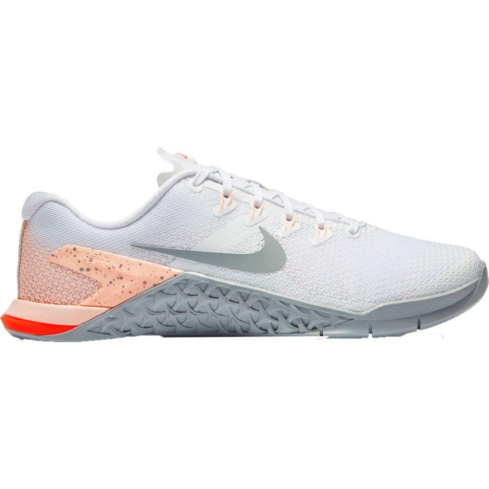 ナイキ Nike レディース フィットネス・トレーニング シューズ・靴【Metcon 4 Training Shoes】White/Grey