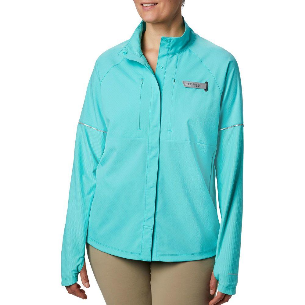 コロンビア Columbia レディース トップス 【PFG Ultimate Catch Zero Long Sleeve Hybrid Shirt】Dolphin