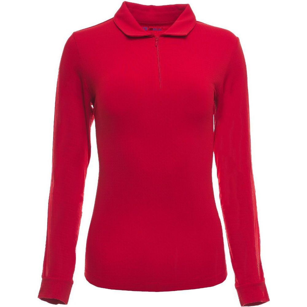 IBKUL レディース ゴルフ ポロシャツ トップス【Long Sleeve Golf Polo】Red