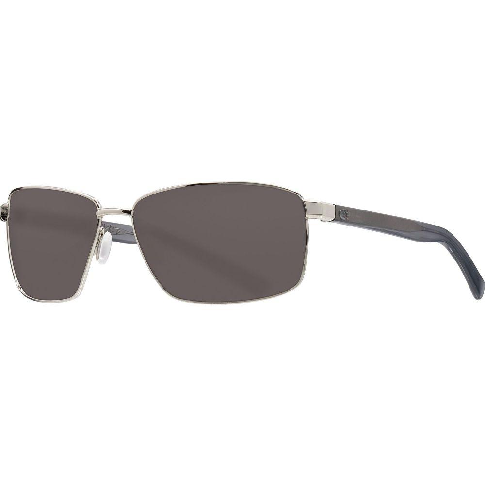 コスタデルメール Costa Del Mar レディース メガネ・サングラス 【Ponce 580P Sunglasses】Shiny Silver/Gray