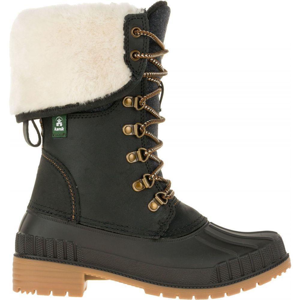 カミック Kamik レディース ブーツ ウインターブーツ シューズ・靴【SiennaF2 200g Waterproof Winter Boots】Black