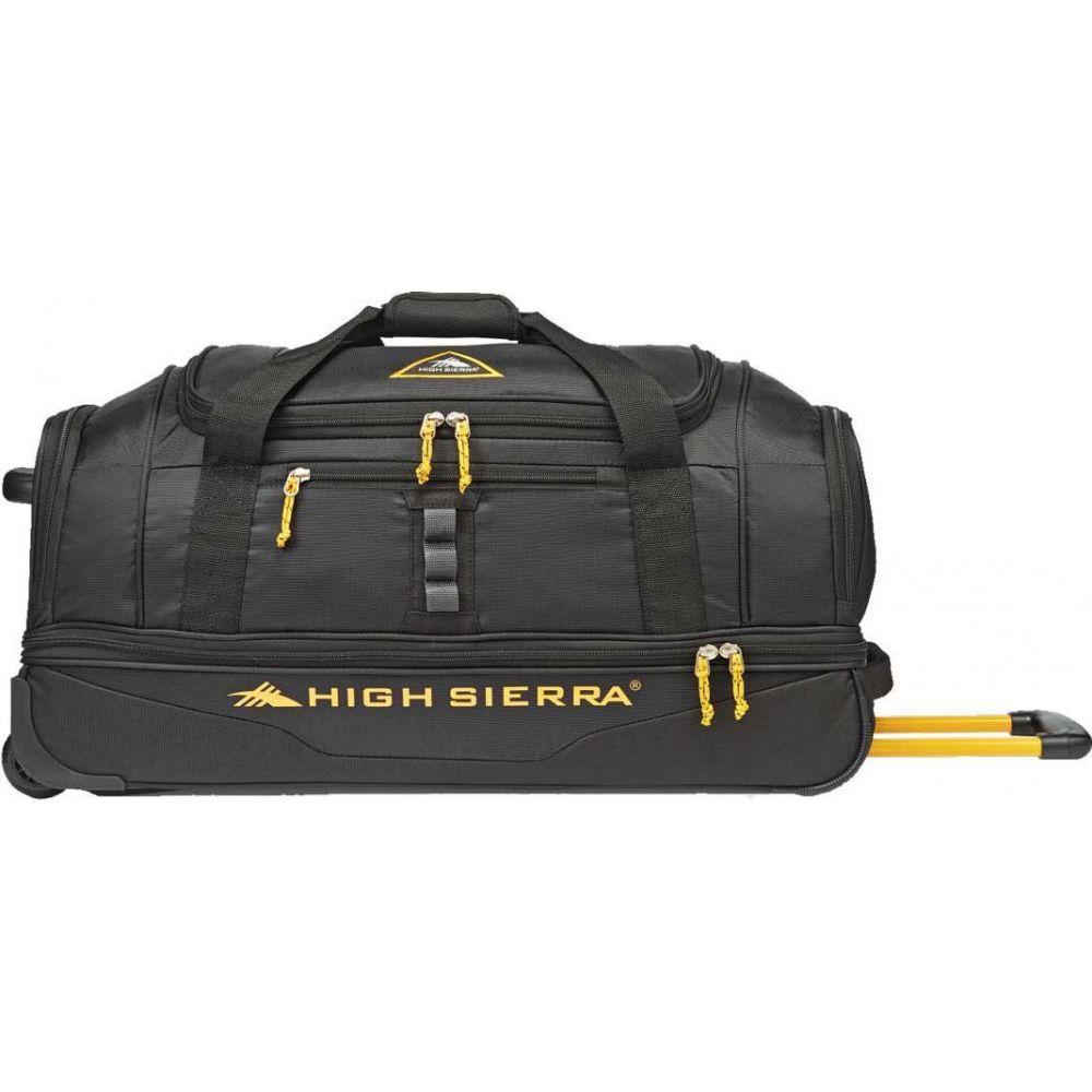 ハイシエラ High Sierra レディース スーツケース・キャリーバッグ バッグ【Pathway 28 Drop Bottom Rolling Duffel】Black/Gold