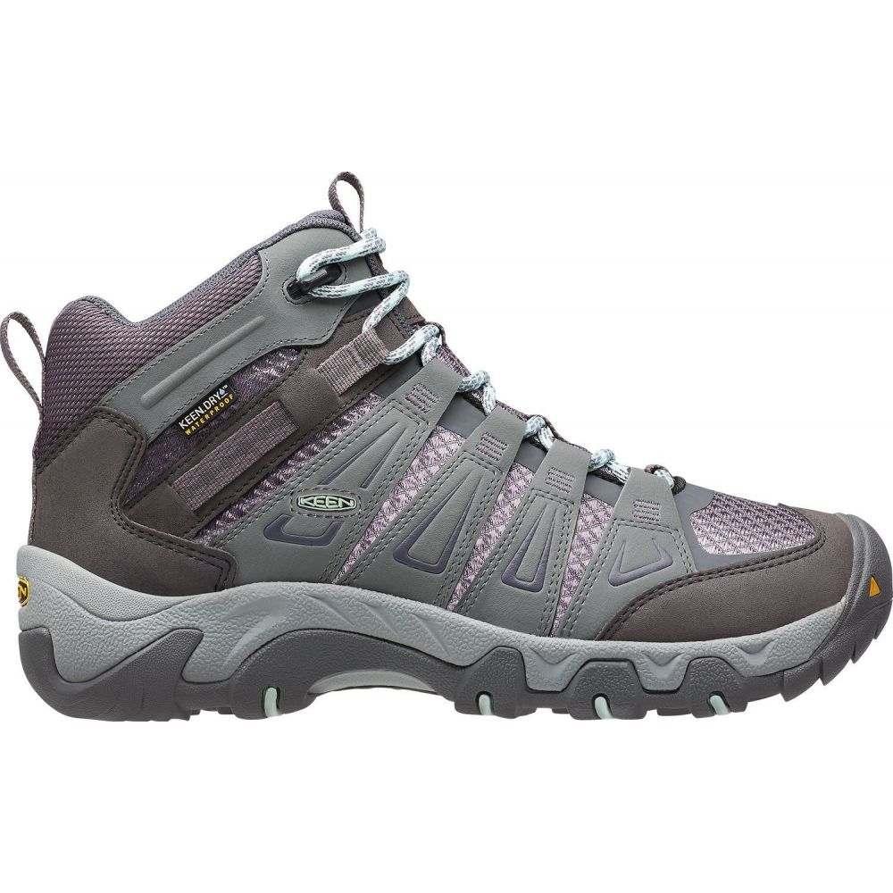 キーン Keen レディース ハイキング・登山 ブーツ シューズ・靴【KEEN Oakridge Mid Waterproof Hiking Boots】Gray/Shark