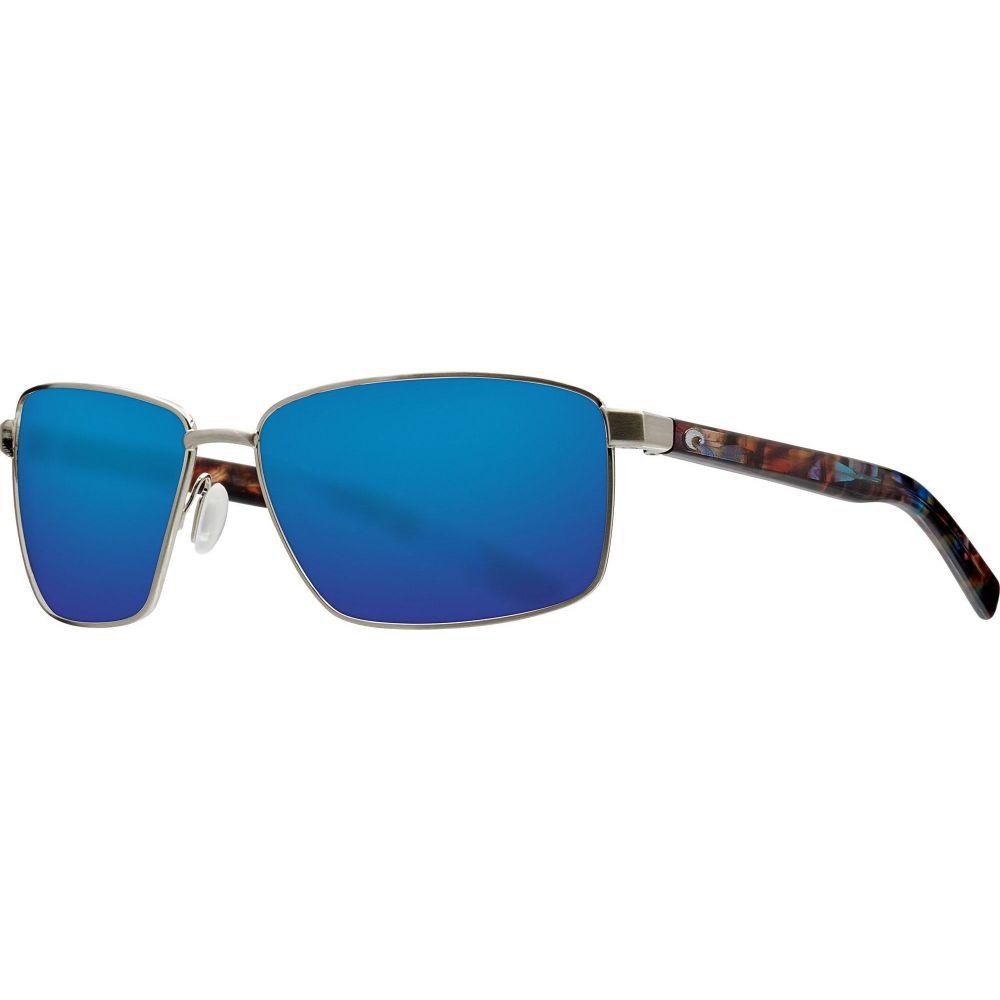 コスタデルメール Costa Del Mar レディース メガネ・サングラス 【Ponce 580G Sunglasses】Brushed Silver/Blue