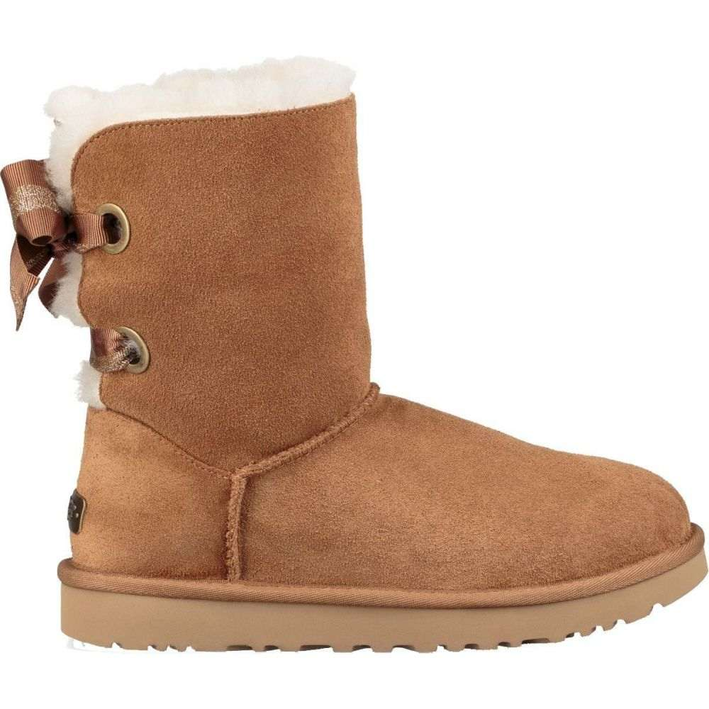 アグ UGG レディース ブーツ シューズ・靴【Customizable Bailey Bow Short Casual Boots】Chestnut