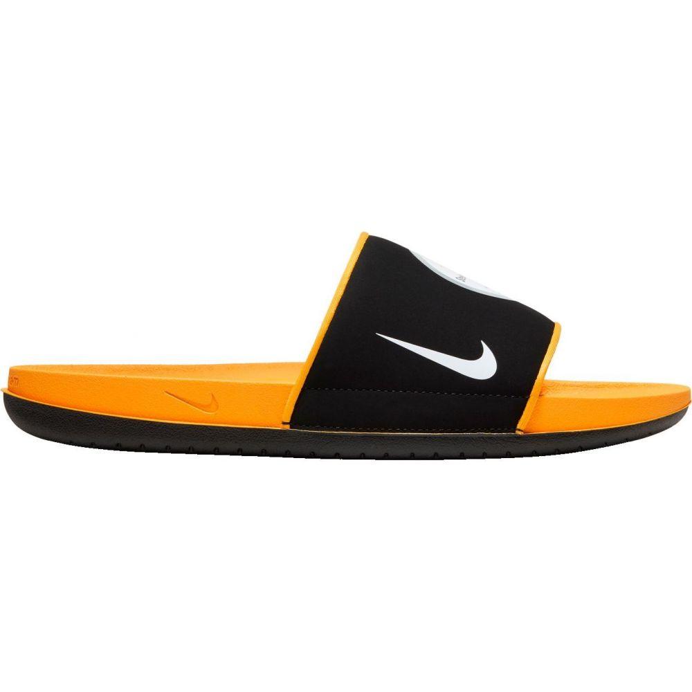 ナイキ Nike メンズ サンダル シューズ・靴【Pittsburgh Steelers Offcourt Slides】Black/Gold/White