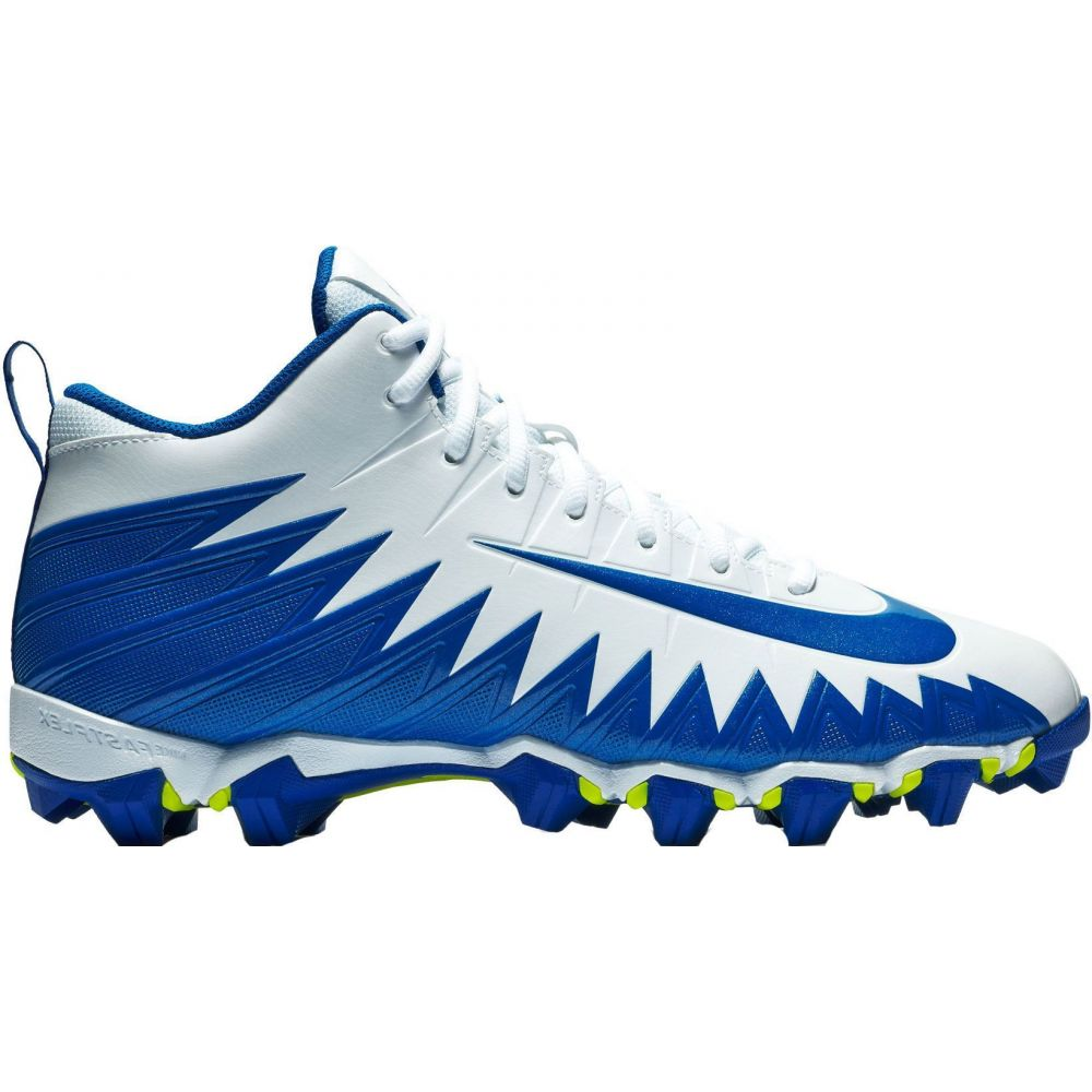 ナイキ Nike メンズ アメリカンフットボール スパイク シューズ・靴【Alpha Menace Shark Football Cleats】White/Blue