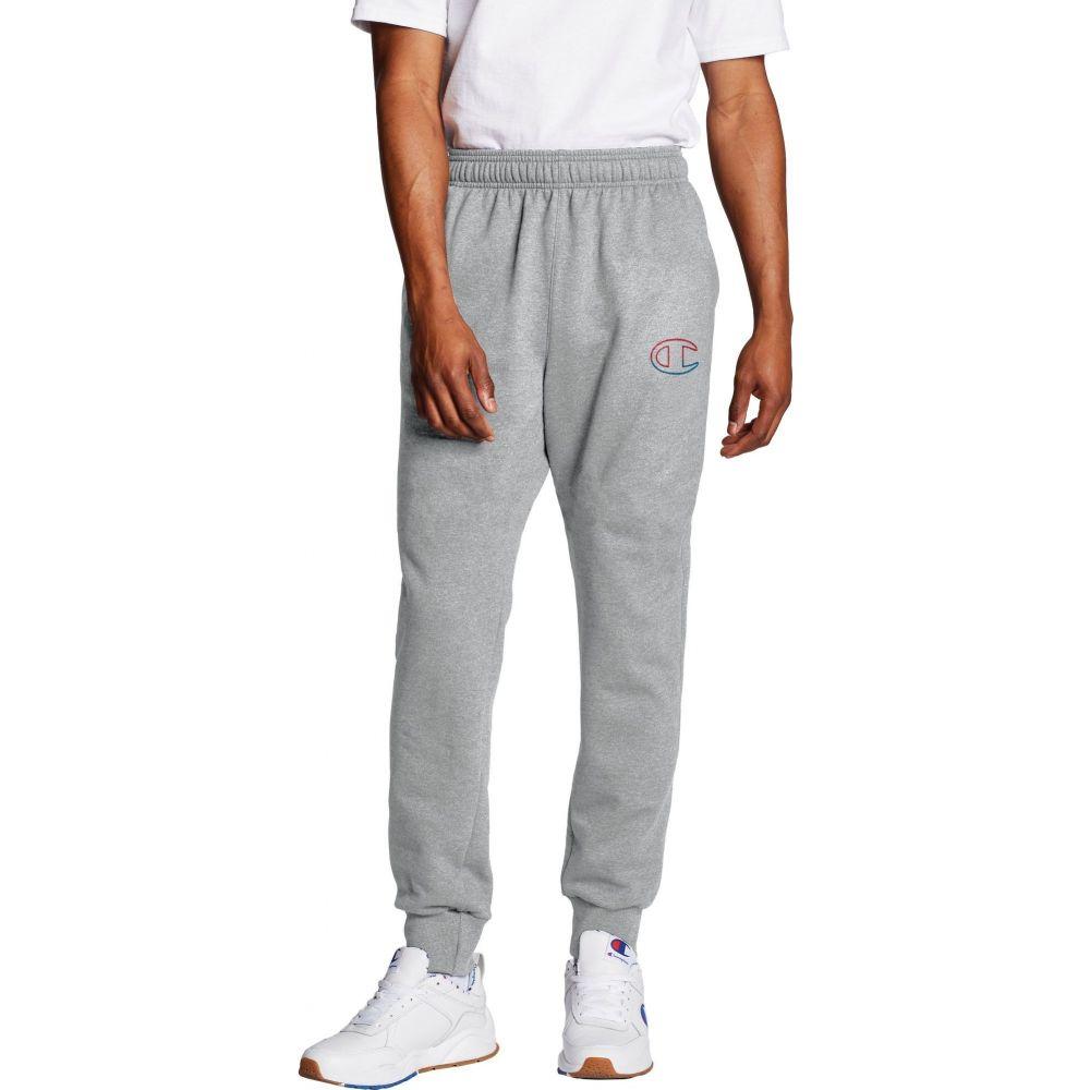 チャンピオン Champion メンズ ジョガーパンツ ボトムス・パンツ【Powerblend Fleece C Logo Joggers】Oxford Grey