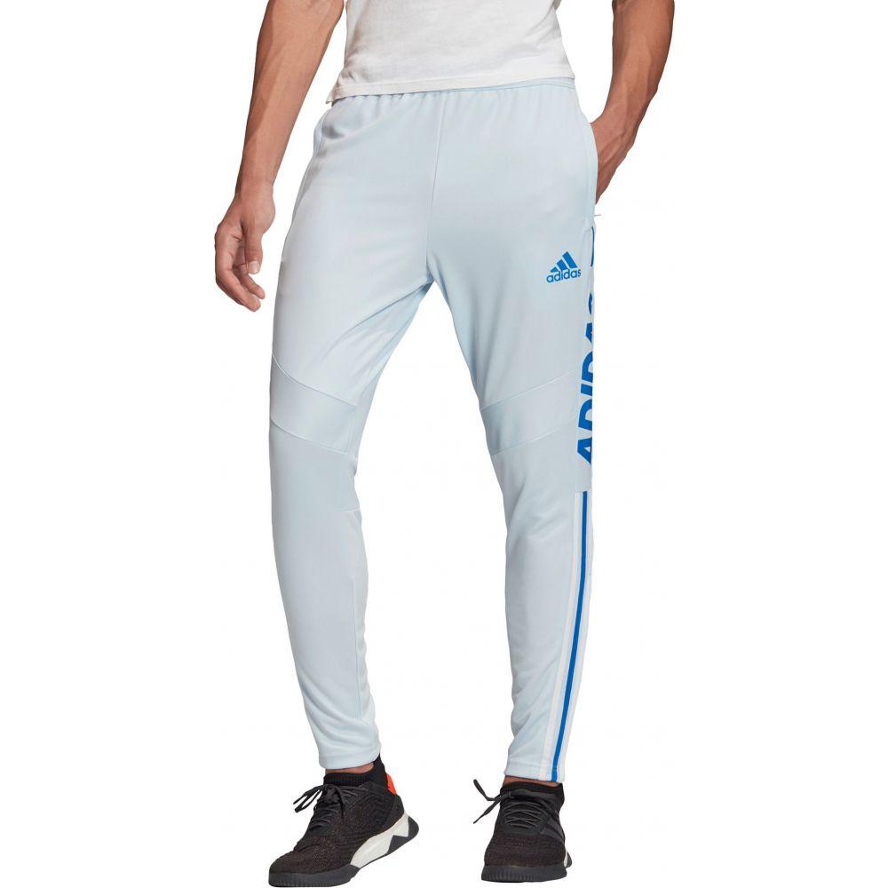 アディダス adidas メンズ フィットネス・トレーニング ボトムス・パンツ【Tiro 19 Wordmark Training Pants】Sky Tint