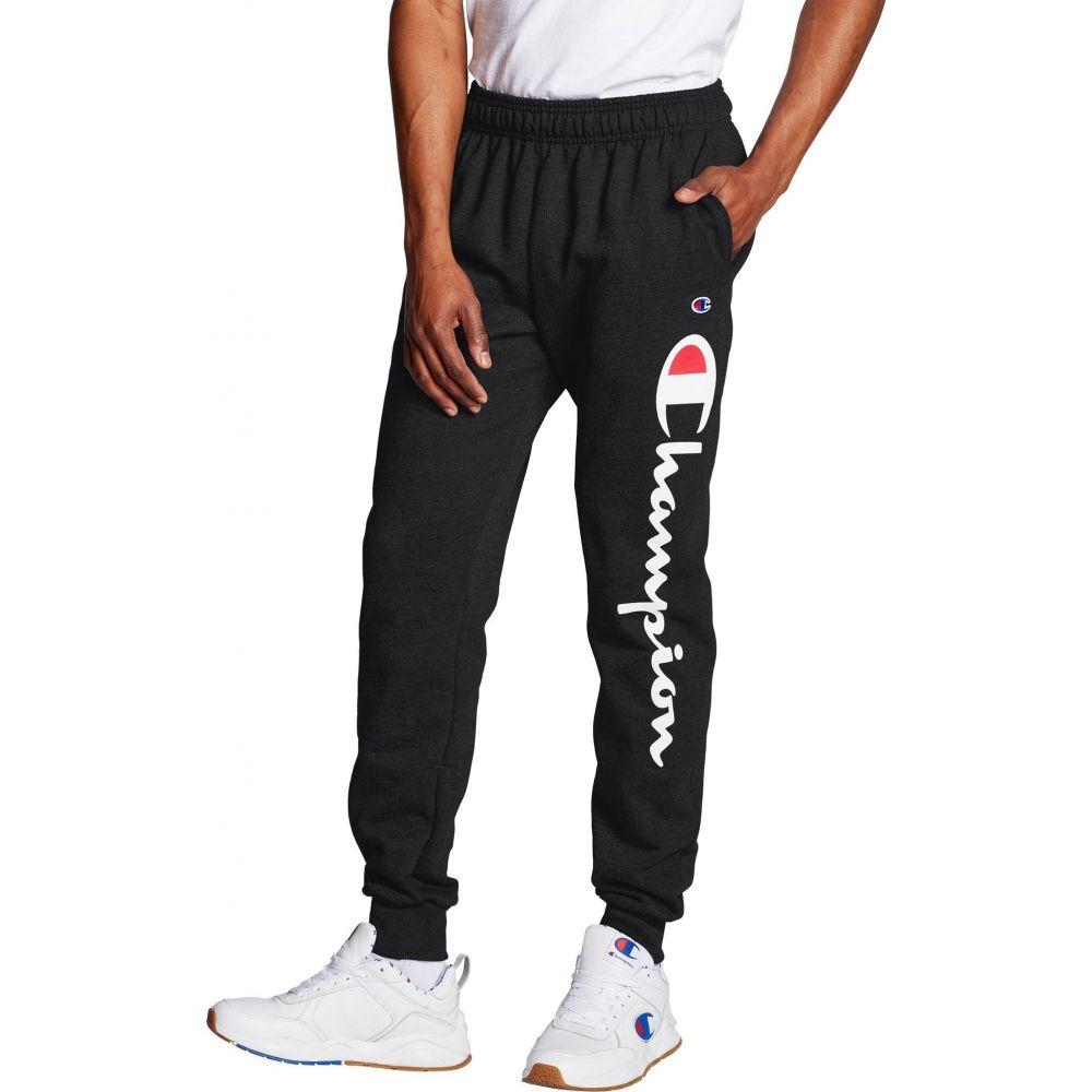 チャンピオン Champion メンズ ジョガーパンツ ボトムス・パンツ【Powerblend Leg Script Joggers】Black