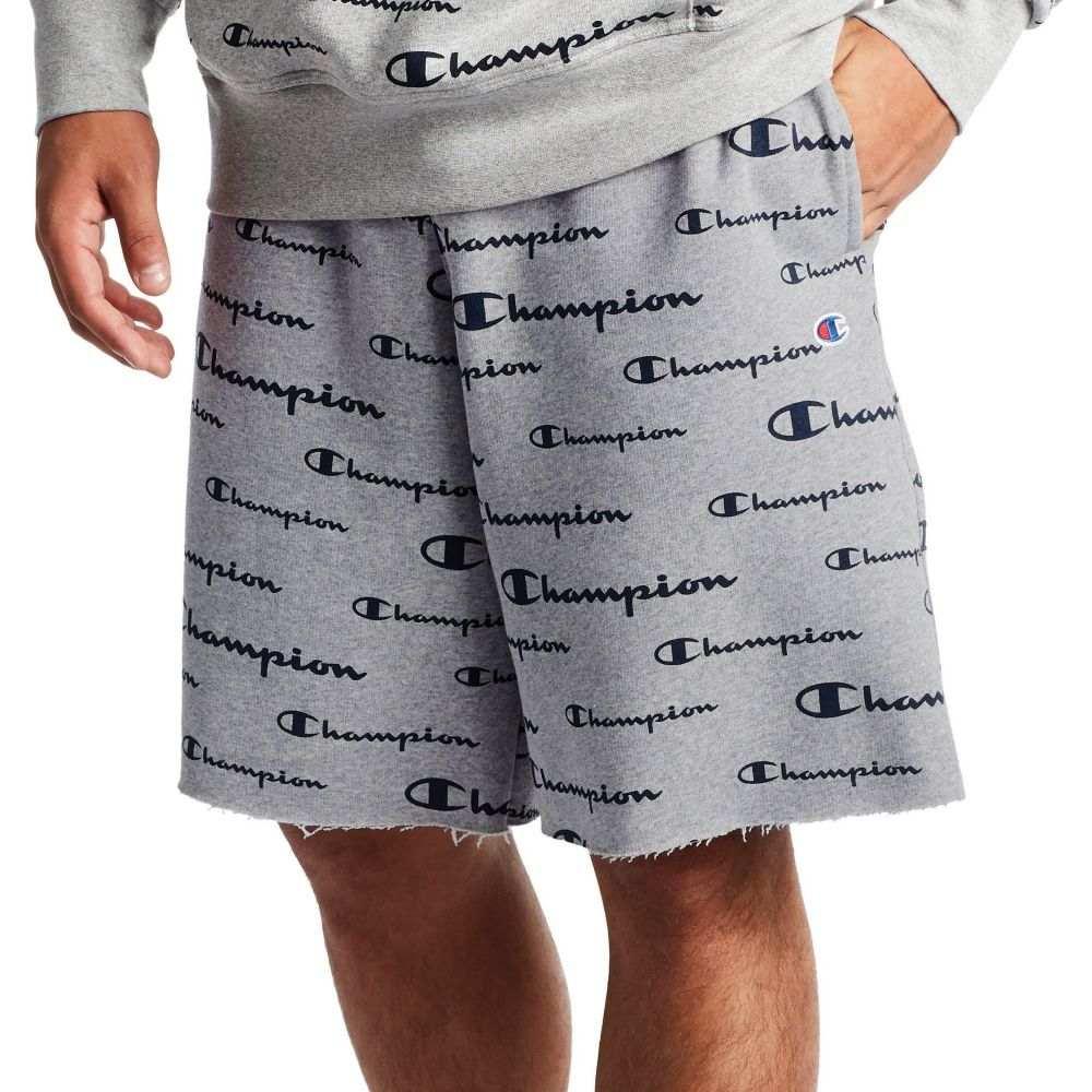 チャンピオン Champion メンズ ショートパンツ ボトムス・パンツ【Powerblend All Over Print Shorts】Oxford Grey