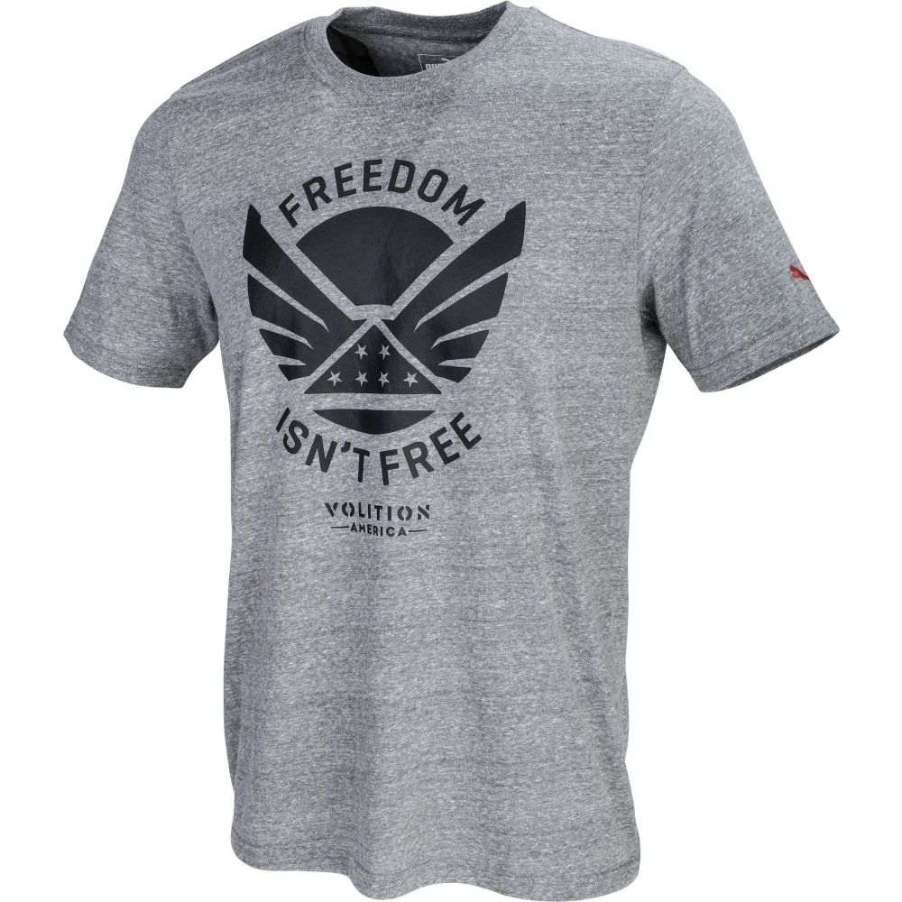 プーマ PUMA メンズ ゴルフ Tシャツ トップス【Volition Freedom Golf T-Shirt】Medium Gray Heather