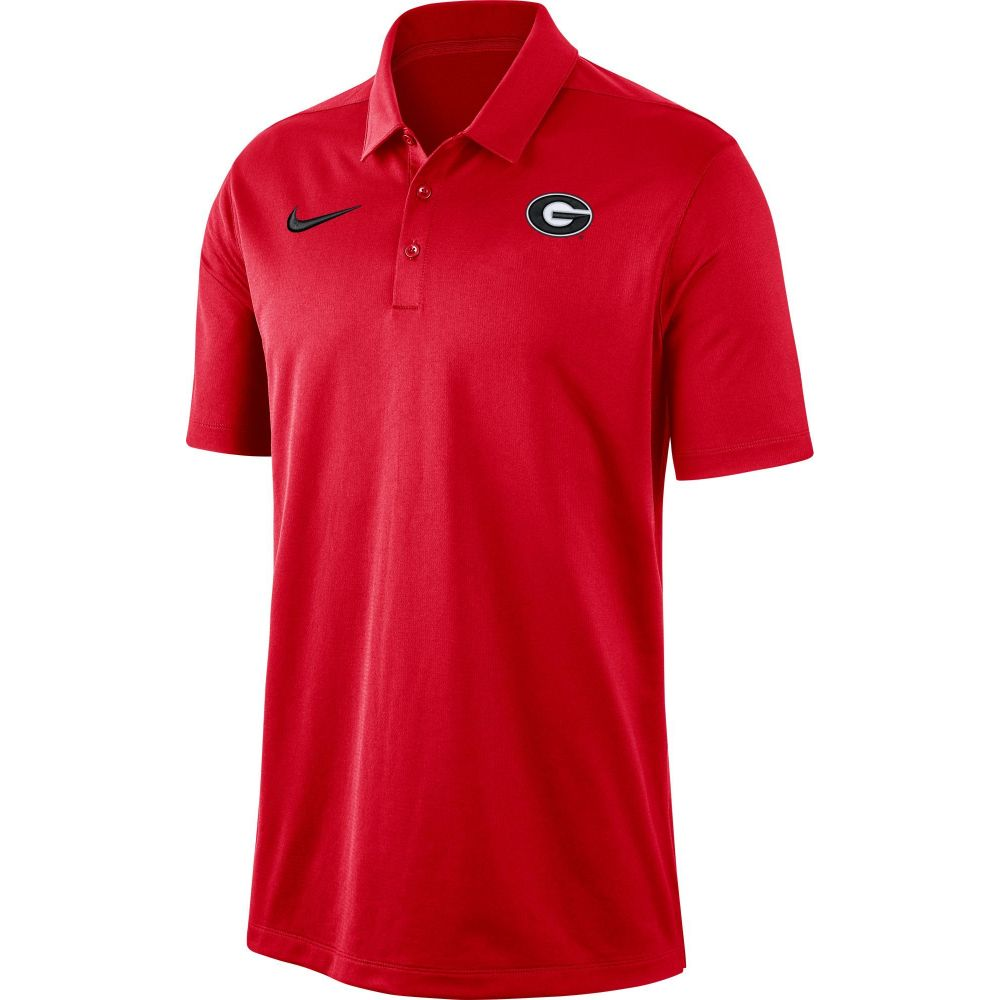 ナイキ Nike メンズ ポロシャツ トップス【Georgia Bulldogs Red Dri-FIT Franchise Polo】