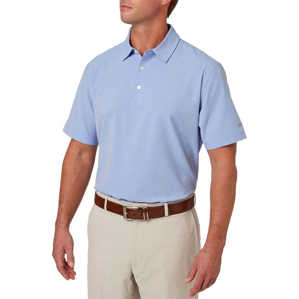 ウォルターヘーゲン Walter Hagen メンズ ゴルフ ポロシャツ トップス【Lightweight Stretch Woven Golf Polo】Periwinkle