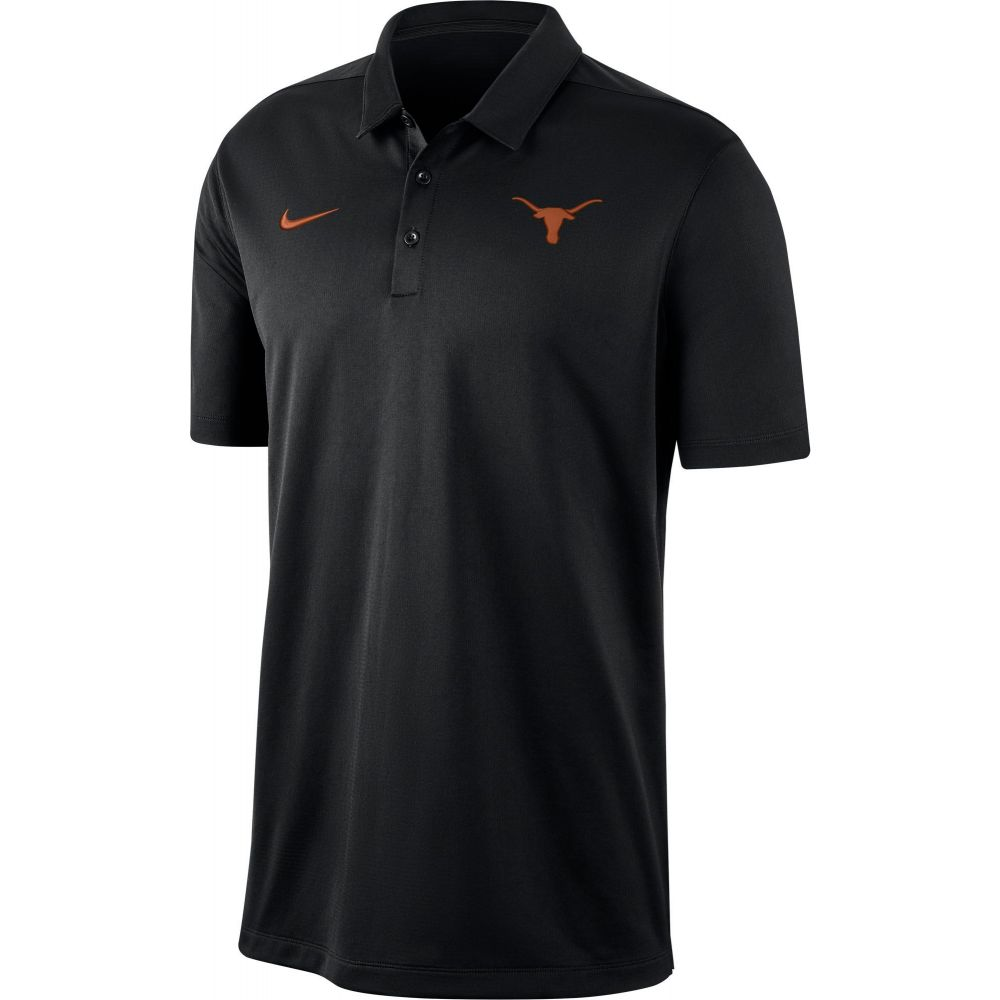 ナイキ Nike メンズ ポロシャツ トップス【Texas Longhorns Dri-FIT Franchise Black Polo】
