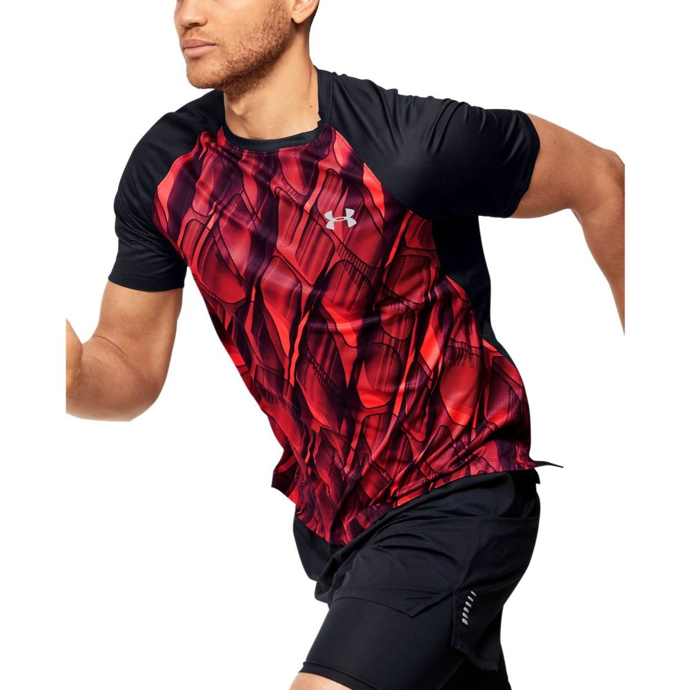 アンダーアーマー Under Armour メンズ ランニング・ウォーキング トップス【Qualifier Printed Running Short Sleeve T-Shirt (Regular and Big & Tall)】Beta/Black