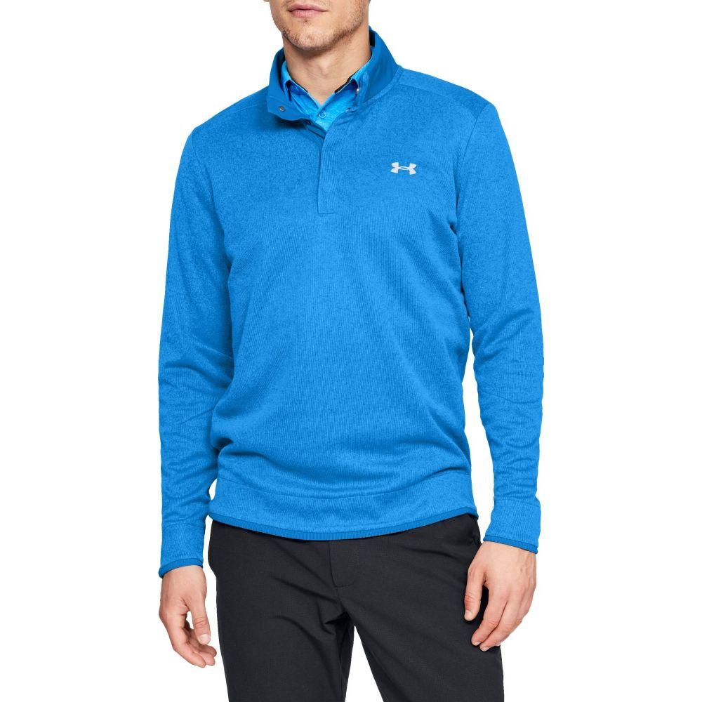 アンダーアーマー Under Armour メンズ ゴルフ トップス【SweaterFleece Snap Mock Golf Pullover】Blue Circuit