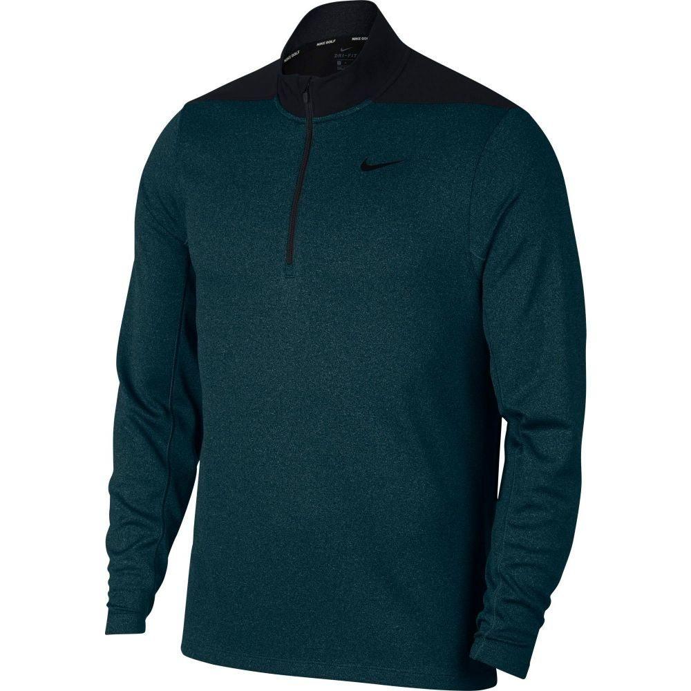 ナイキ Nike メンズ ゴルフ トップス【Dri-FIT Golf 1/4 Zip】Black/Midnight Spruce