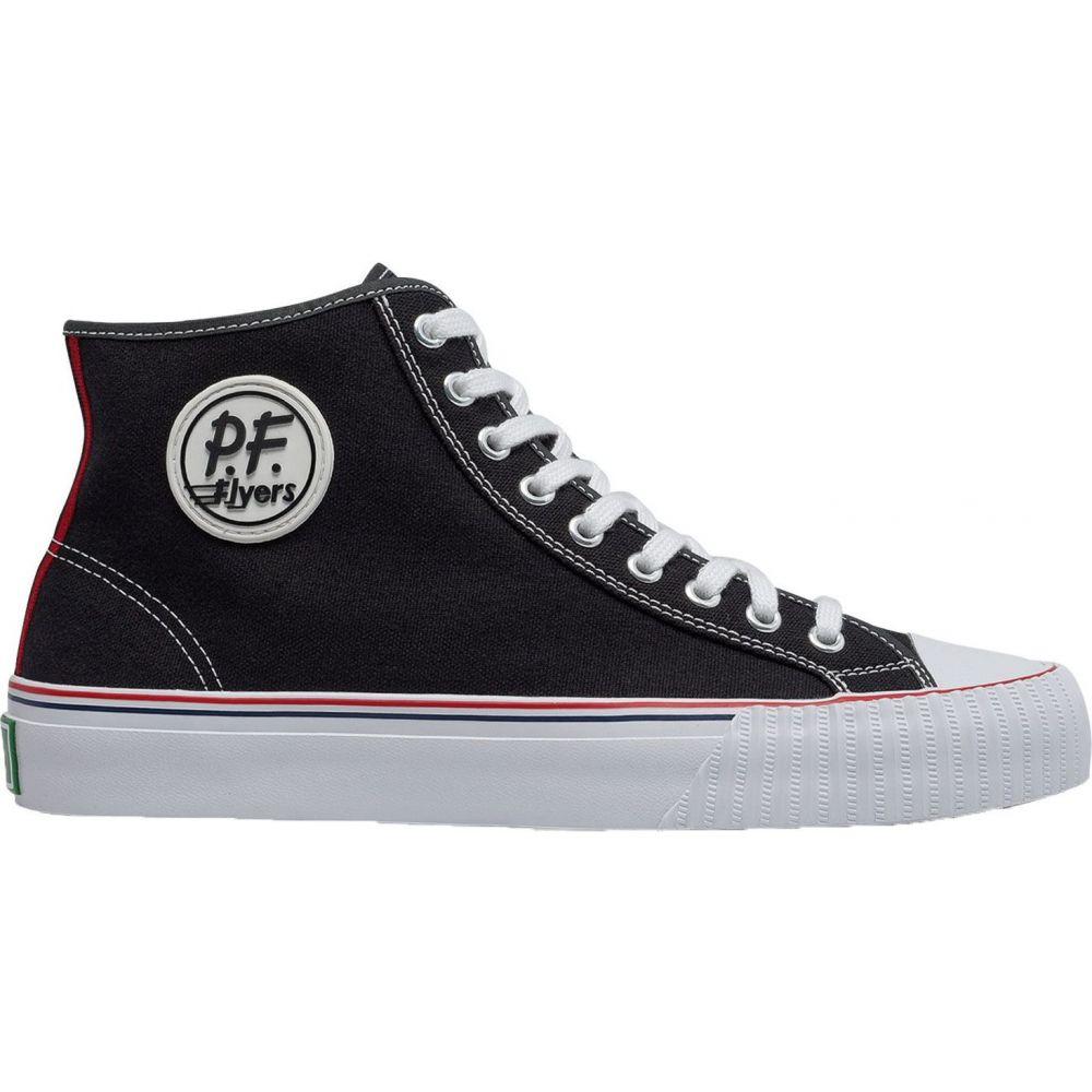 ピーエフフライヤー P.F. Flyers メンズ スニーカー シューズ・靴【Center Hi Shoes】Black/White