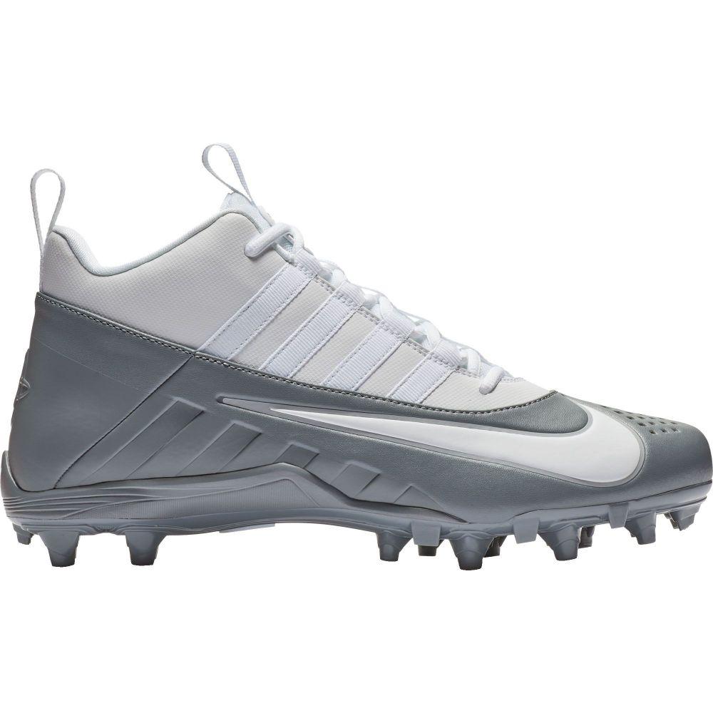 ナイキ Nike メンズ ラクロス スパイク シューズ・靴【Alpha Huarache 6 Varsity Lacrosse Cleats】Grey/White