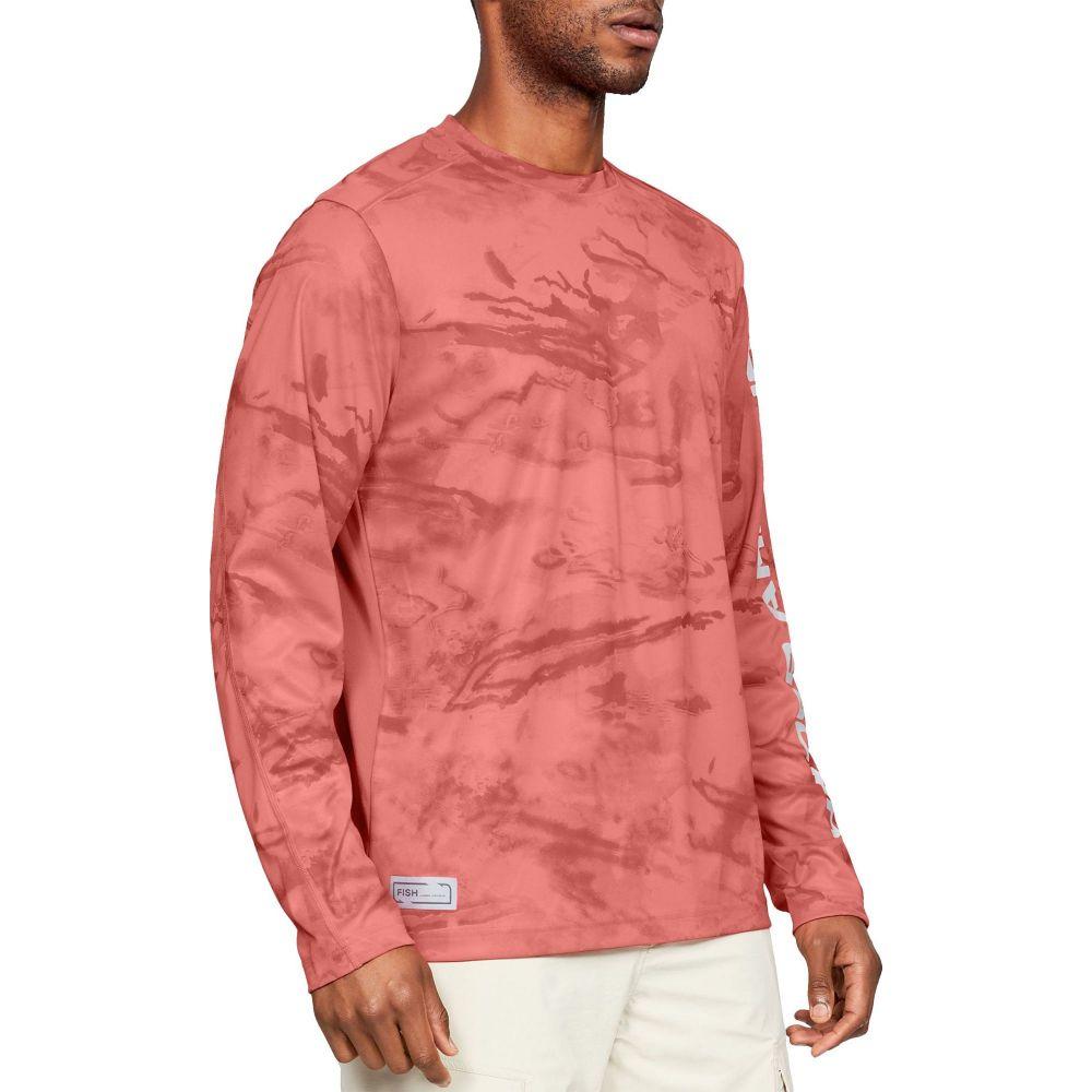 アンダーアーマー Under Armour メンズ 釣り・フィッシング トップス【Shore Break Camo Fishing Long Sleeve Shirt (Regular and Big & Tall)】Orange